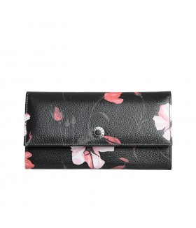 Портмоне женское 400.53B.01 Black with flower